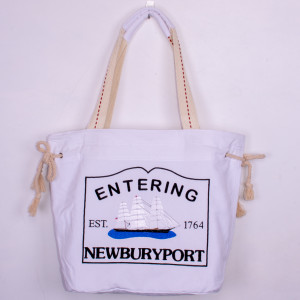 Embroidered Newburyport Schooner Tote