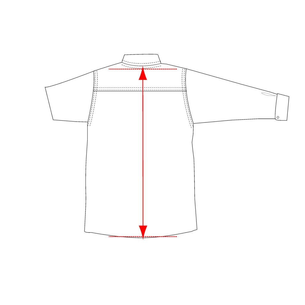 Center back length shirt measurement