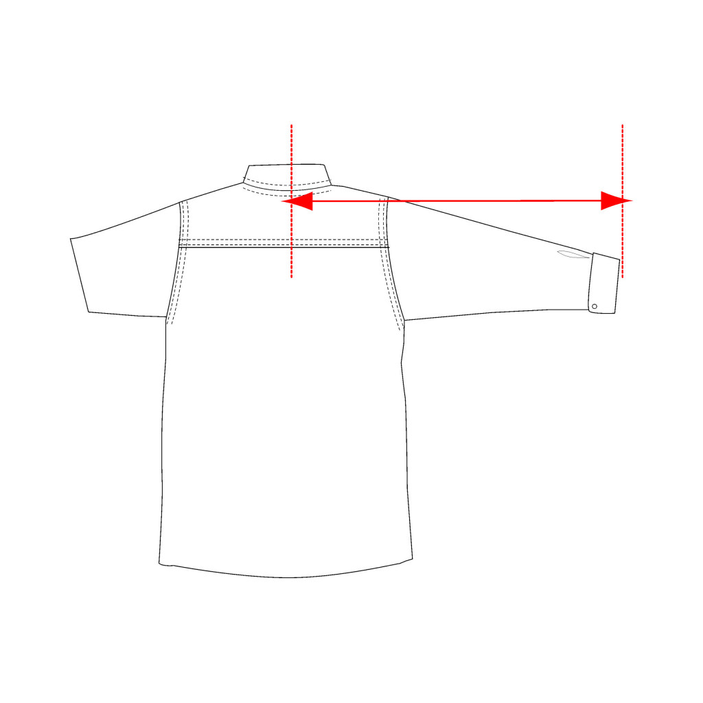 center back sleeve length shirt measurement