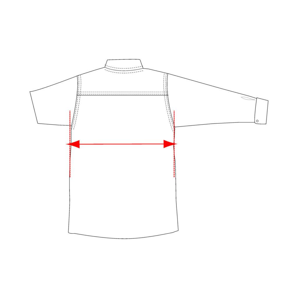 shirt width measurement